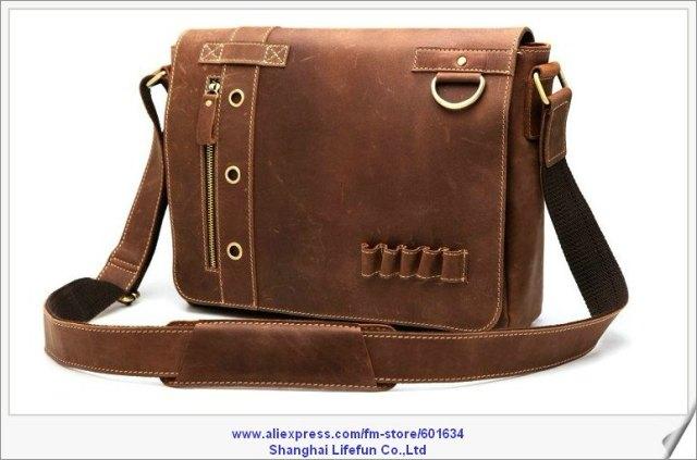 Style-2012-vintage-men-GENUINE-LEATHER-Shoulder-Messenger-bag-13-inch-laptop-computer-bag-ipad-bag