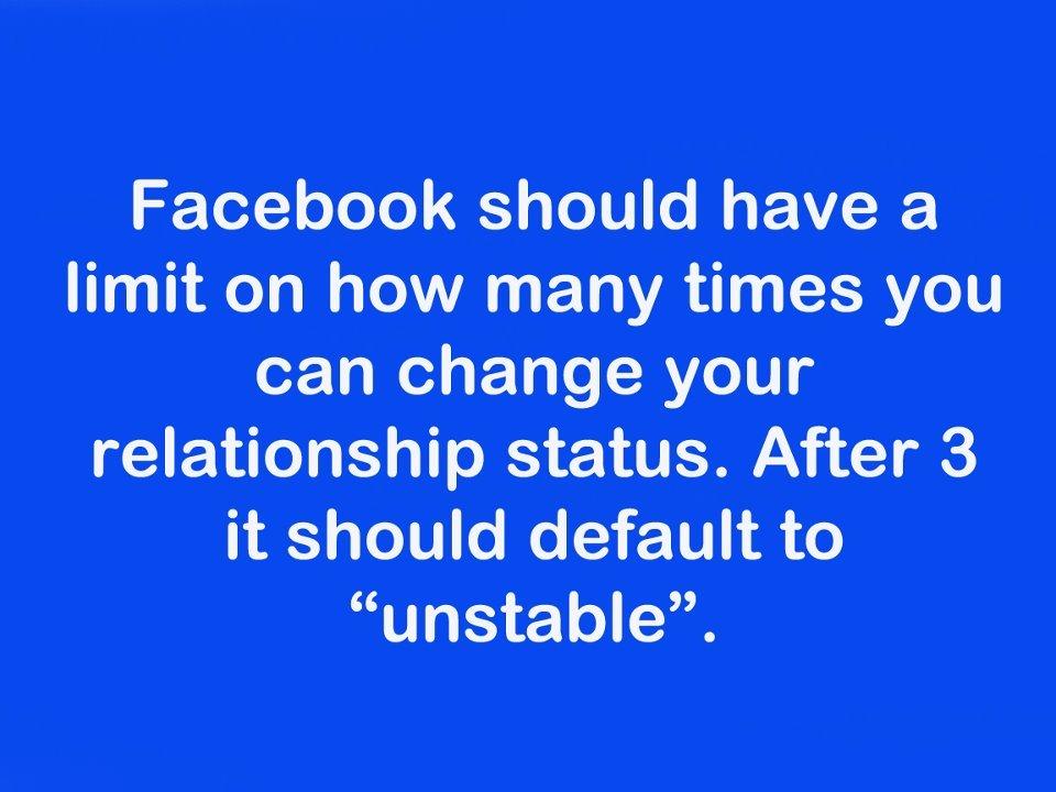 Facebook Funny Quote Relationship Unstable Favimcom 341555