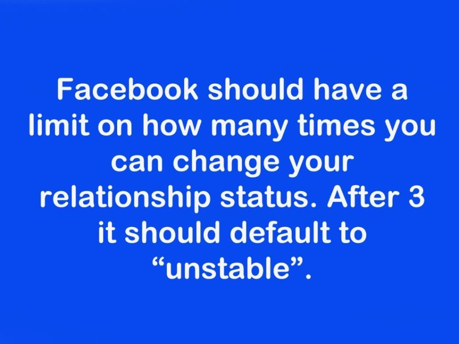 Facebook Funny Quote Relationship Unstable Favimcom 341555